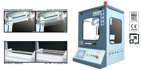 NS24 multinozzle electrospinning device1